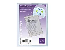 Exacompta - Pochette de protection - 85 x 125 mm - translucide incolore