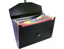 Viquel Rainbow Class - Classeur ménager (valisette trieur) 12 onglets