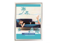 Promocome Clipframe - Cadre d'affichage clippant - coins carrés - 60 x 80 cm