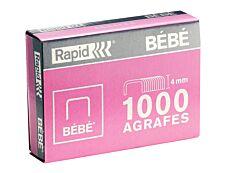 Rapid - Boîte de 5000 Agrafes 8/4 ou Bébé - jusqu'à 15 feuilles - acier galvanisé