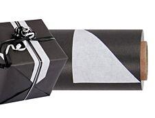Logistipack - Papier cadeau kraft réversible - 70 cm x 50 m - 60 g/m² - noir/blanc