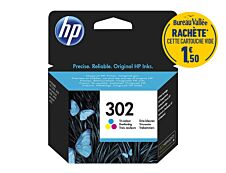 HP 302 - cyan, magenta, jaune - cartouche d'encre originale