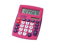 Calculatrice de bureau Citizen SDC-450N - 8 chiffres - alimentation batterie et solaire - rose