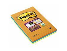 Notes Super Sticky Post-it Grands Formats - 101 x 152 mm - 3 blocs
