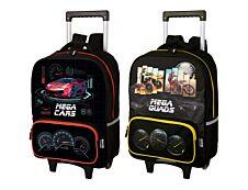 Megacars - Sac à dos à roulettes - 2 modèles disponibles - Oberthur