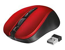 Trust Click Mydo - souris sans fil silencieuse - rouge