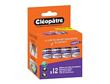 Cléopâtre Cléostick - 12 bâtons de colle violet - 8 gr