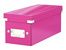 Leitz Click & Store - Boîte de rangement pour CD - rose métallisé
