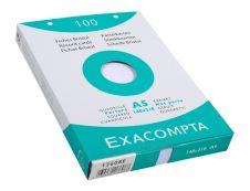 Exacompta - Pack de 100 Fiches Bristol - A5 - petits carreaux - perforées - blanc