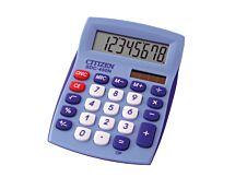 Calculatrice de bureau Citizen SDC-450N - 8 chiffres - alimentation batterie et solaire - bleu