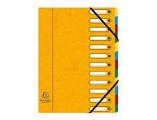 Exacompta Harmonika - Trieur à fenêtres 12 positions - jaune