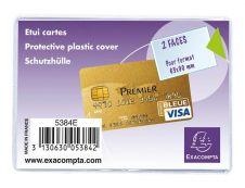 Exacompta - Pochette de protection - 65 x 95 mm - translucide incolore