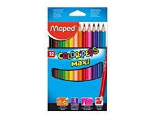 Maped Color'Peps Maxi - 12 Crayons de couleur triangulaires