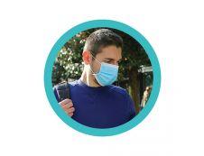 Boite 50 masques chirurgicaux 3 plis (non stériles) - bleu - type IIR