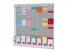 Nobo - Planning hebdomadaire à fiches T - 7 colonnes - 48 x 48 cm