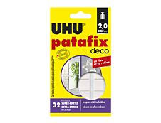 UHU Patafix deco - 32 pastilles adhésives - blanc - non permanent