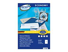 Europe100 - 100 Étiquettes multi-usages blanches - 210 x 297 mm - réf ELA027