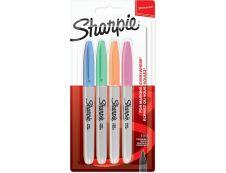 Sharpie - Pack de 4 marqueurs permanents - pointe fine - couleurs pastels assorties