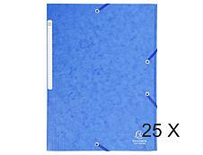 Exacompta - 25 Chemises à rabats maxi capacity - bleu