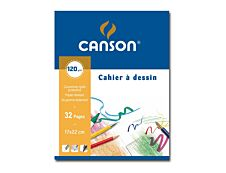 Canson - Cahier à dessin 17 x 22 cm - 32 pages - 125g - blanc