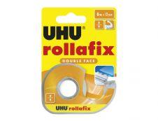 UHU rollafix - Distributeur avec ruban adhésif double face 12 mm x 6 m