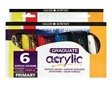 Daler-Rowney Graduate - Peinture acrylique - pack de 6 - 75 ml