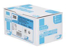 GPV - 200 Enveloppes DL 110 x 220 mm - 90 gr - fenêtre 45x100 mm - blanc - bande adhésive ouverture rapide
