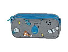 Eggmania by DDP - Trousse rectangulaire Sharky - 2 compartiments - Kid'Abord
