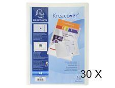 Exacompta Kreacover - 30 Chemises de présentation personnalisables - A4 - blanc