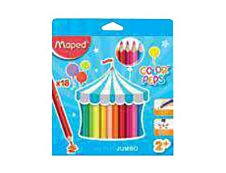 Maped Color'Peps Jumbo - 18 Crayons de couleur