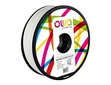 OWA - filament 3D PLA-S - blanc - Ø 1,75 mm - 750g