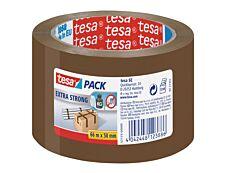 Tesapack Extra Strong - 3 Rubans adhésifs d'emballage - 50 mm x 66 m - havane