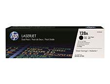 HP 128A - Pack de 2 - noir - cartouche laser d'origine