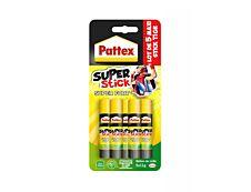Pattex - 5 Bâtons de colle - Blanche - 11 gr