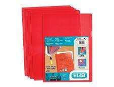 M STAR - 10 Pochettes coin -  A4 - pour 25 feuilles - 15/100 - rouge