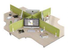 Écran de séparation acoustique pour bureau - L160 x H43 cm - vert chartreux