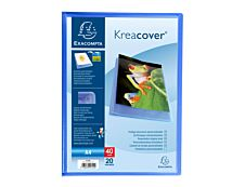 Exacompta KreaCover - Porte vues personnalisable - 40 vues - A4 - bleu
