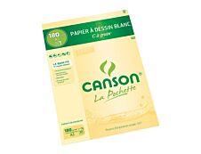 Canson C à grain - Pochette papier à dessin - 10 feuilles - A3 - 180 gr - blanc
