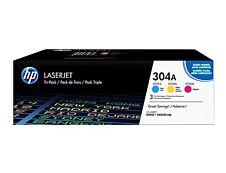 HP 304A - Pack de 3 - cyan, magenta, jaune - cartouche laser d'origine