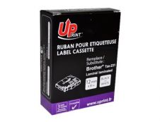 Uprint - Ruban d'étiquettes auto-adhésives pour Brother TZe231 - 1 rouleau (12 mm x 8 m) - fond blanc écriture noire