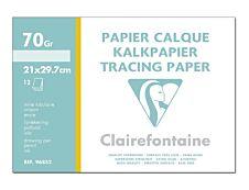 Clairefontaine - Fine Arts - pochette papier à dessin  calque - 12 feuilles - A4 - 70G - blanc