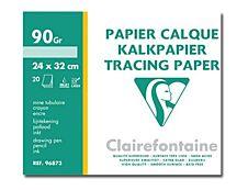 Clairefontaine - Fine Arts - pochette papier à dessin  calque - 12 feuilles - 24 x 32 cm - 90G - blanc