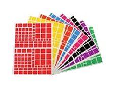Apli - 10 feuilles gommettes carrées - coloris assortis