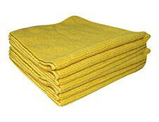 De Witte Tricot Soft - 5 chiffons microfibres 40 x 40 cm - jaune
