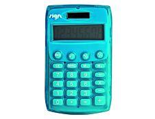 Calculatrice de poche Sign - 8 chiffres - alimentation batterie et solaire - couleurs assorties