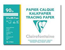 Clairefontaine - Fine Arts - pochette papier à dessin  calque - 12 feuilles - A4 - 90G - blanc