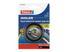 Tesa Isolate Universal - Ruban bande d'isolation électrique noir - 15 mm x 10 m