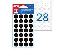 Apli Agipa - 168 Pastilles adhésives - noir - diamètre 15 mm - réf 111847