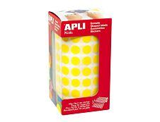 Agipa -Rouleau de pastilles adhésives - jaune - diamètre 10,5 mm