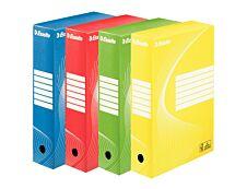 Esselte Vivida - 4 boîtes archives - dos 8 cm - couleurs assorties